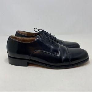 Bostonian Cap Toe Men's Black Oxford Size 10.5M